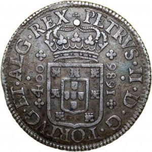 D. Pedro II - 1686 - Cruzado (400 Reis)